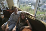 Laura Sobon and her boyfriend Brian Murray (cq both) in Laura's parents condo where she also lives...