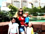 Paige Birgfeld with her children  Jess,8, with long brown hair (far left); Taft,6, with blondish...