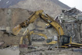 Demolition of many buildings at the Climax Molybdenum Company's facility in Climax, Colo., on...