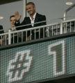 0460 David Beckham waves to the crowd before the first half of the 2007 Sierra Mist Major League...