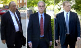 (NYT66) ABINGDON, Va. -- July 19, 2007 -- OYCONTIN-SENTENCE -- Howard R. Udell, left, Purdue...