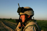 04/07/2005 Iraq-SGT Joseph Palmer, 25, Grand Rapids, Mich., patrols a rural area south of Baghdad...