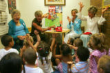 Four Colorado First Ladies Bea Romer, Jeannie Ritter, Frances owens and Dottie Lamm read to...