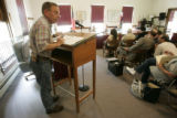 0120 Ric Morgan, CQ, a local resident in opposition, address the Elbert County Commissioners and...