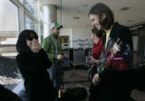(Brighton, Co} shot on 4/7/05})  At DIA, musician Keiko Matsui (cq) (l) is surprised to realize...