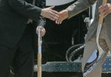 Denver Mayor John Hickenlooper at a ground breaking on a new gas-to-energy plant that will...