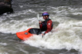 Troy Hiebsch (cq), unaware of high levels of E. Coli in the water, enjoys some kayaking in the...