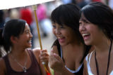 From left, Kashia Vue (cq), 13, of Westminster, Tachie Vang (cq), 16, Broomfield, Youa Vang (cq),...