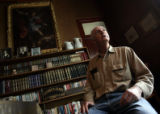 Bob Elder (cq) of Leadville, Colo., sits in his home and talks to a reporter regarding his...