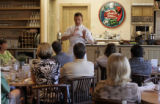 Chef and cooking instructor Rocky Durham (cq), of the Santa Fe School of Cooking, teaches an...