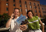 Denver, Colo.,  photo taken May 26, 2004- Barb Rigel (left) and Steve Hopp (right) have teamed up...