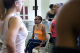 Marceline Freeman, 52, helps dancers rehearse on Sept. 6, 2007, at the Cleo Parker Robinson Dance...