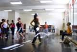 Marceline Freeman, 52, helps dancers rehears on Sept. 6, 2007, at the Cleo Parker Robinson Dance...