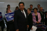 New Mexico Governor Bill Richardson, running for President, held a brief press conference in the...