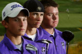 (from left) - Douglas County High School golfers Cody Kent (cq), 15 (sophomore), Derek Fribbs...