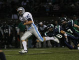 In the first seconds of the game Ralston Valley's #88 Brandon Ribble run this kick off back for a...