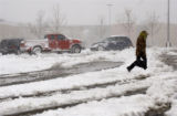 Broomfield, Colo., photo taken April 10, 2005- Elissa Eggers, 27, of Denver makes her way back to...