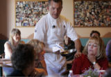 Chef and cooking instructor Rocky Durham (cq), of the Santa Fe School of Cooking, has his students...