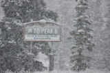 Breckenridge Ski Resort saw the first measurable snowfall this morning as trail signs and...
