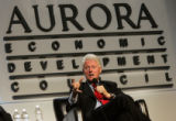 Bill Clinton speaks to a crowd of 2500 people attending the Aurora Economic Council's A-List 2007...