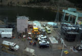 CODER106 - Rescue workers gather to enter an Xcel Energy hydroelectric plant in which five...