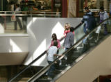 (Aurora, Co} shot on 4/11/05})  What do kids do on the snow day- they go shopping.  Even if it is...