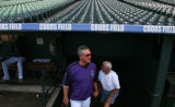 Clint Hurdle walks out onto the field as the Rockies workout at Coors Field in Denver, Colo., on...
