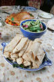 "Fake blintzes, salad, turkey, and other props from the play, ""You Can't Take it With..."