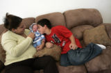 Marjorie Silva (cq), 32, gave birth to her son Santiago Silva on Sept. 12 at Swedish Hospital,...