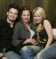 (Denver, Colo., April 8, 2005) Left to right:  Jesse Moss, Skye Forrest, and Shannon Malone from...