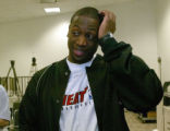 MH102 - Miami Heat guard Dwyane Wade speaks to the media Wednesday, April 27, 2005, in Miami. Wade...