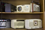 Old radios are one of the many collectable things found at the Green Door on Oct. 30, 2008 when...