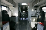 Interior view (looking to the rear)  of a new unused $750,000 HazMat vehicle at the DFD Fleet...
