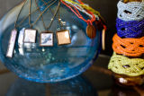 Picture frame necklaces with mirrors on the back for $25.00 are a popular item along with the...