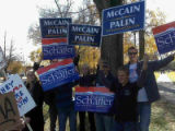 Supporters of John McCain and Bob Schaffer, many of them former Europeans who say they are opposed...