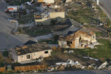 JOE383 Aerial view on Friday morning, May 23, 2008 of parts of Windsor, Colo., that was hit by a...