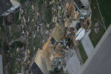 JOE393 Aerial view on Friday morning, May 23, 2008 of parts of Windsor, Colo., that was hit by a...