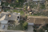 JOE459 Aerial view on Friday morning, May 23, 2008 of parts of Windsor, Colo., that was hit by a...