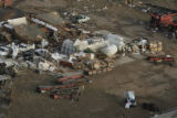 JOE474 Aerial view on Friday morning, May 23, 2008 of parts of Windsor, Colo., that was hit by a...