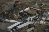 JOE479 Aerial view on Friday morning, May 23, 2008 of parts of Windsor, Colo., that was hit by a...