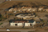 JOE434 Aerial view on Friday morning, May 23, 2008 of parts of Windsor, Colo., that was hit by a...