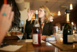 BG0208 Beth Gruitch, Co-Owner at rioja, tastes wines for the menu at the high-class restaurant in...