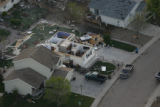 JOE242 Aerial view on Friday morning, May 23, 2008 of parts of Windsor, Colo., that was hit by a...