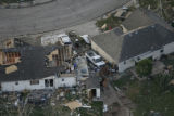 JOE257 Aerial view on Friday morning, May 23, 2008 of parts of Windsor, Colo., that was hit by a...