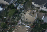 JOE258 Aerial view on Friday morning, May 23, 2008 of parts of Windsor, Colo., that was hit by a...