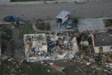 JOE267 Aerial view on Friday morning, May 23, 2008 of parts of Windsor, Colo., that was hit by a...