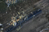 JOE279 Aerial view on Friday morning, May 23, 2008 of parts of Windsor, Colo., that was hit by a...