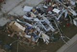 JOE328 Aerial view on Friday morning, May 23, 2008 of parts of Windsor, Colo., that was hit by a...