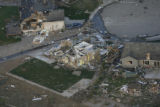 JOE283 Aerial view on Friday morning, May 23, 2008 of parts of Windsor, Colo., that was hit by a...