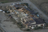 JOE287 Aerial view on Friday morning, May 23, 2008 of parts of Windsor, Colo., that was hit by a...